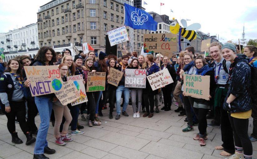 Aufruf #PfadisforFuture beim 4. Globen Klimastreik am 29.11.